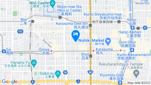 Kyoto Traditional Machiya House Map