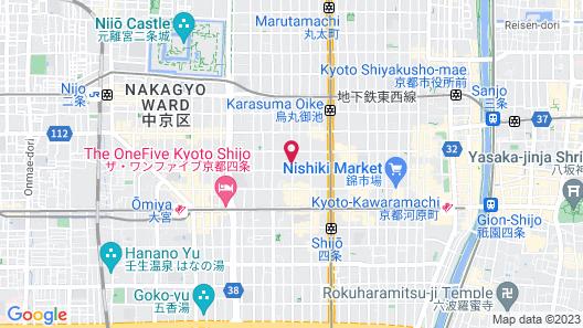 Mitsui Garden Hotel Kyoto Shinmachi Bettei Map