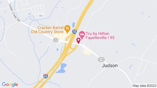 Tru by Hilton Fayetteville I-95, NC Map