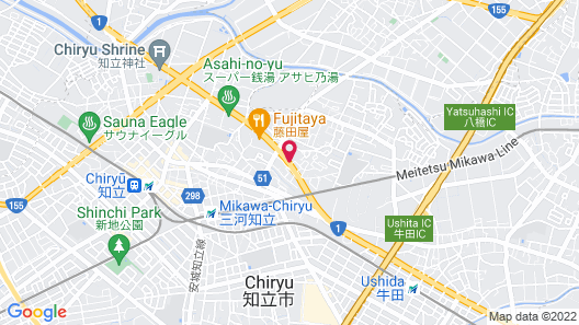 Hotel Route-Inn Chiryu Map