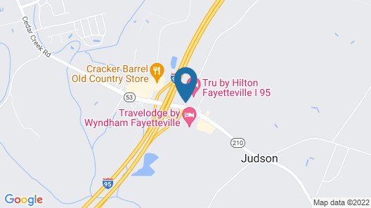 Hampton Inn & Suites Fayetteville Map