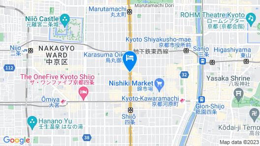 Hotel Monterey Kyoto Map