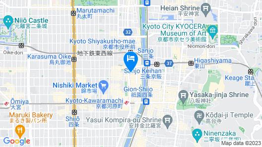 Hotel Resol Kyoto Kawaramachi-Sanjo  Map