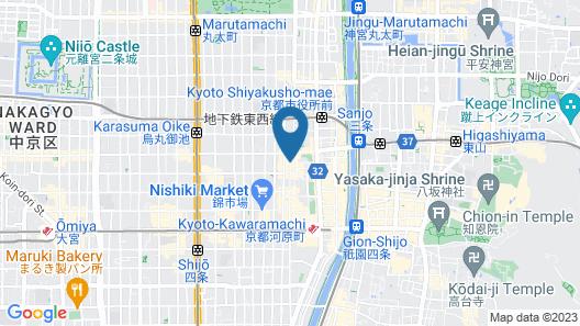 Hotel Gracery Kyoto Sanjo Map