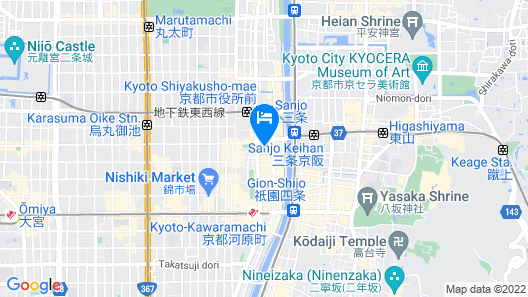 CROSS HOTEL KYOTO Map