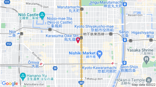 Mitsui Garden Hotel Kyoto Sanjo Map