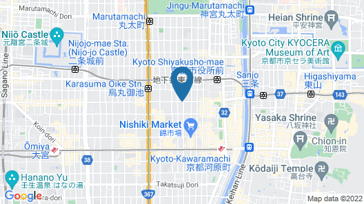 TSUGU Kyoto Sanjo by THE SHARE HOTELS Map