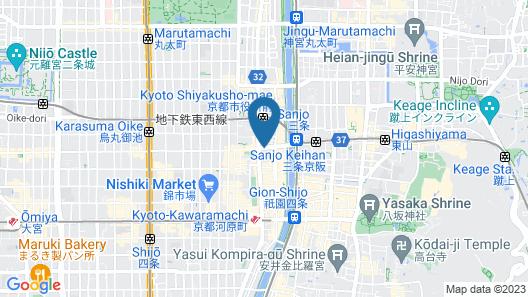 The Royal Park Hotel Kyoto Sanjo Map