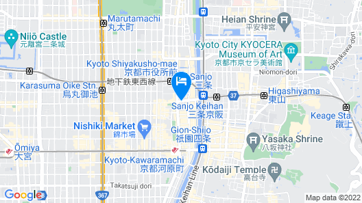 The Royal Park Hotel Kyoto Sanjo Map