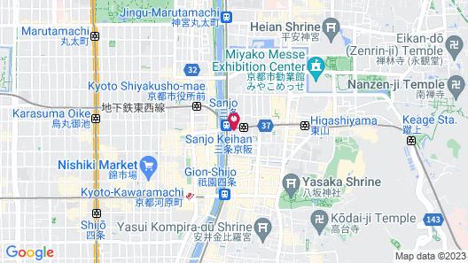 Kyoto Yura Hotel - MGallery Map