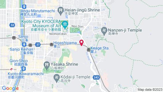 The Westin Miyako Kyoto Map