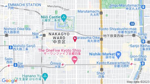 The Hedistar Hotel Kyoto Nijo Map