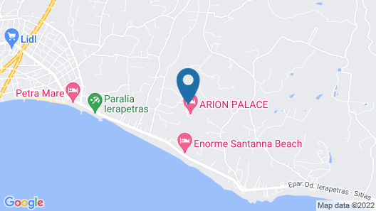 Eurohotel Arion Palace Hotel - Adults Only Map