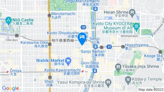 Hotel Gran Ms Kyoto Map