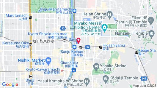 Kyoto Sanjo Ohashi Map