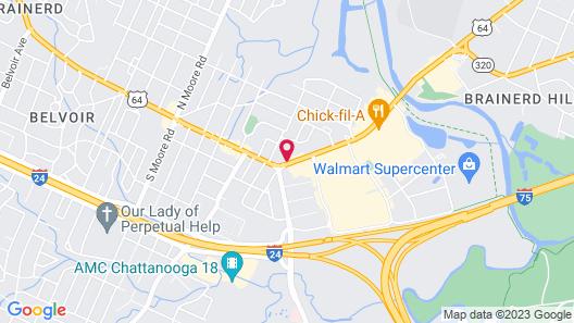 Motel 6 Chattanooga, TN - Airport Map