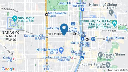 Hiiragiya Ryokan Map