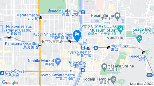 SOLARIA Nishitetsu Hotel Kyoto Premier Map