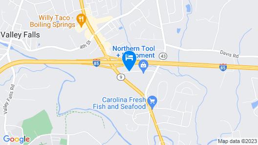 Best Western Plus Spartanburg Map