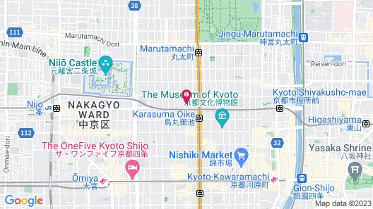 Hotel Grand Bach Kyoto Oike Select Map