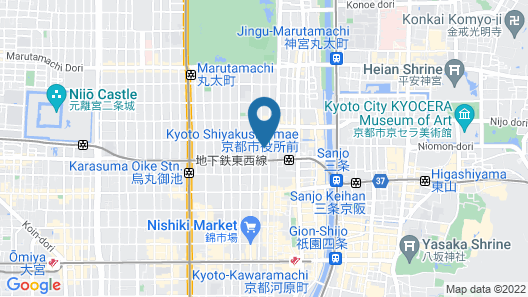 Hotel Resol Trinity Kyoto Map