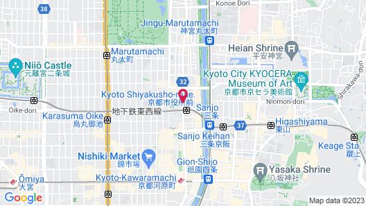 Kyoto Hotel Okura Map
