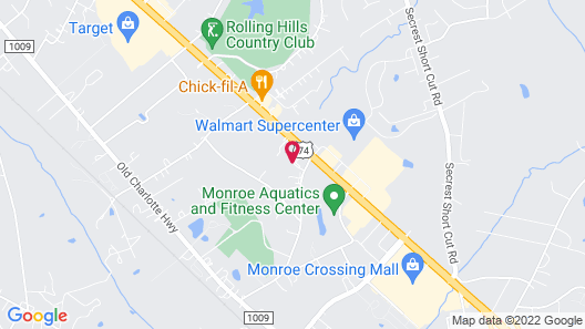 Holiday Inn Express Hotel & Suites Monroe Map