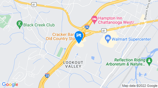 Holiday Inn Express Hotel & Suites Chattanooga-Lookout Mtn, an IHG Hotel Map