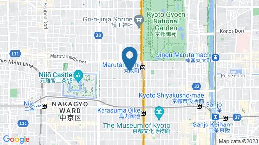 Nazuna Kyoto Gosho Map