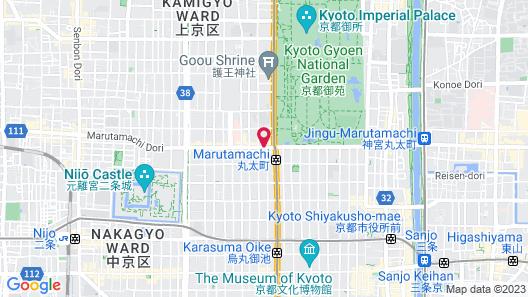 THE SHARE HOTELS RAKURO Kyoto Map