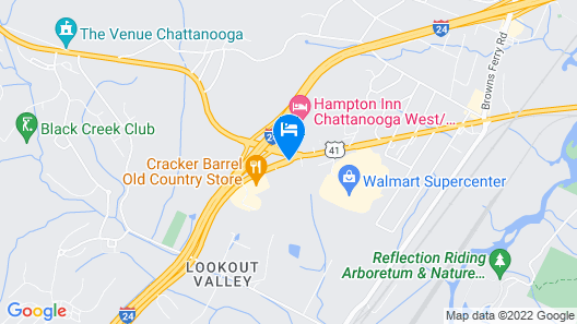 Red Roof Inn Chattanooga - Lookout Mountain Map