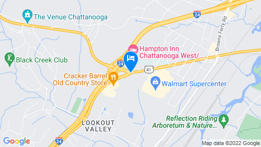 Super 8 by Wyndham Chattanooga Lookout Mountain TN Map