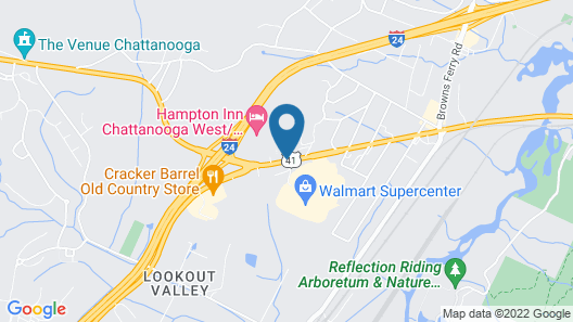 Clarion Inn Chattanooga W I24 Map