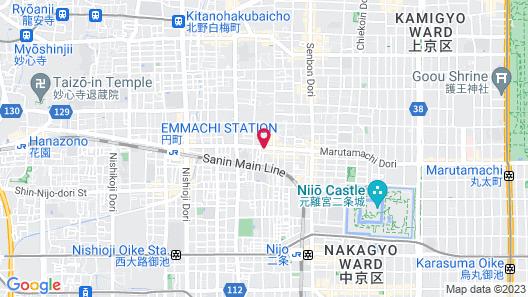 Stay SAKURA Kyoto Nijo Seasons Map