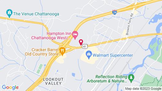 Knights Inn Chattanooga Map