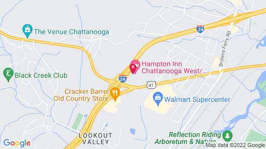 Hampton Inn Chattanooga W Lookout Mtn Map