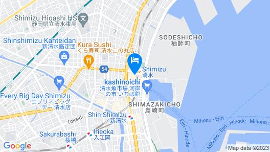 Shimizu City Hotel Map