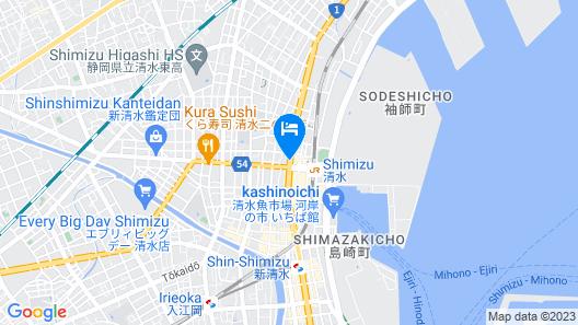 Toyoko Inn Shizuoka-eki Kita-guchi Map