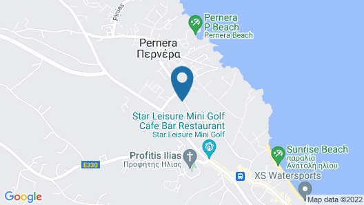 Papouis Protaras Hotel ex smartline Protaras Map