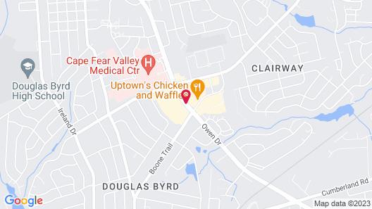 Baymont by Wyndham Fayetteville Fort Bragg Area Map
