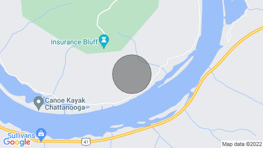 Beautiful River Cabin on the Beautiful Tennessee River Map