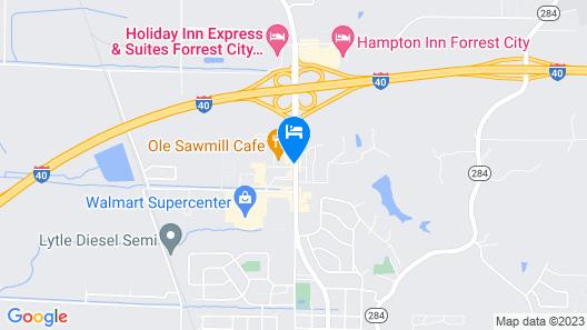 Quality Inn Forrest City I-40 Map