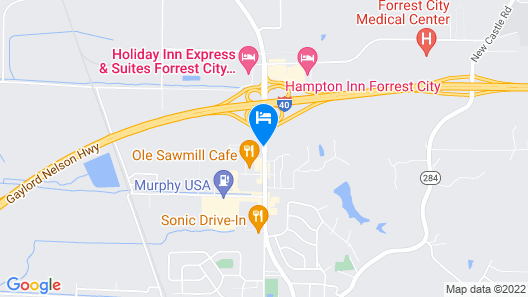 Red Roof Inn Forrest City Map
