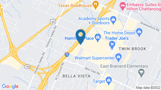 Hampton Inn & Suites Chattanooga/Hamilton Place Map