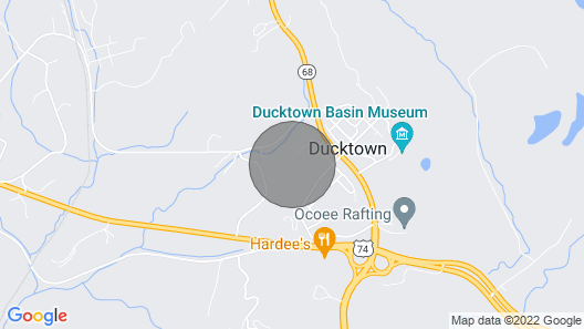 Brew With a View Lodge - Ocoee River Area Map