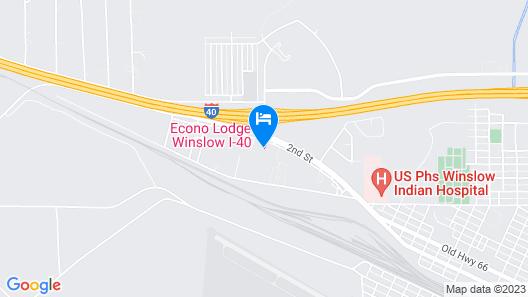Econo Lodge Winslow I-40 Map