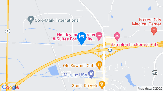 Holiday Inn Express Hotel & Suites Forrest City Map