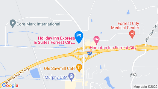 Holiday Inn Express Hotel & Suites Forrest City, an IHG Hotel Map