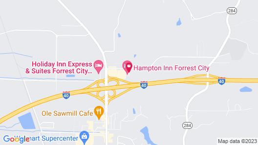 Comfort Suites Forrest City Map