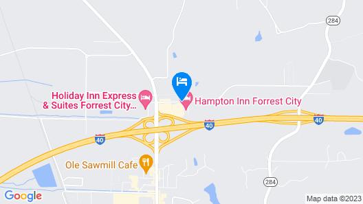 Days Inn by Wyndham Forrest City Map